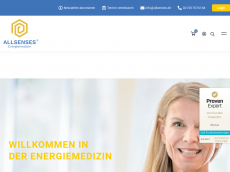 Screenshot der Domain allsenses.de