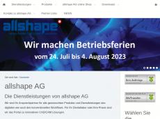 Screenshot von allshape.de