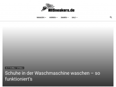 Screenshot der Domain allsneakers.de