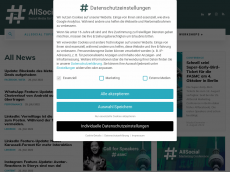 Screenshot der Domain allsocial.de