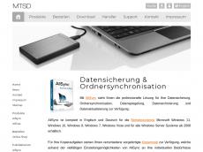 Screenshot von allsync.de