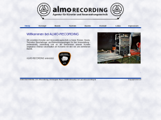 Screenshot der Domain almo-recording.de