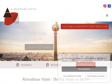 Screenshot der Domain almodovarhotel.de