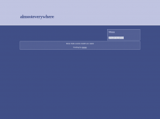 Screenshot der Domain almosteverywhere.de