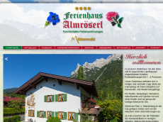Screenshot der Domain almroeserl.de