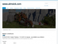 Screenshot der Domain almsick.com
