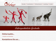 Screenshot der Domain almskunst.de