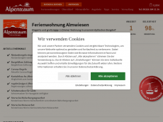 Screenshot der Domain almwiesen.de