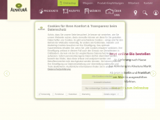 Screenshot der Domain alnatura-online.de