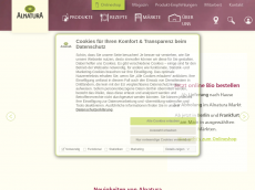 Screenshot von alnatura-online.de