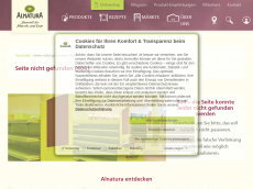Screenshot der Domain alnaturakommt.de