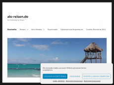 Screenshot der Domain alo-reisen.de