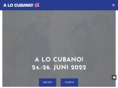 Screenshot der Domain alocubano-festival.de
