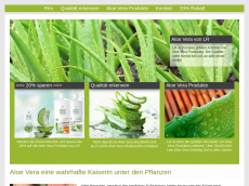 Screenshot der Domain aloe-produkte.de