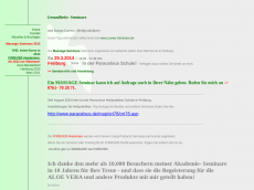 Screenshot der Domain aloe-seminare.de