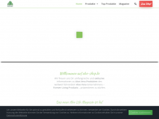 Screenshot der Domain aloe-shop.de