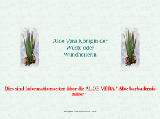 Screenshot der Domain aloe-vera-hamburg.de