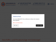 Screenshot der Domain alphaserviceltd.de