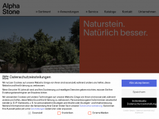 Screenshot der Domain alphastone.de