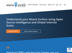 Screenshot der Domain alphastrike.de