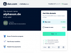 Screenshot der Domain alphasun.de