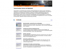 Screenshot der Domain alphatast.de