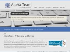 Screenshot der Domain alphateam.tv