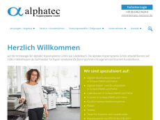 Screenshot der Domain alphatec-kopierer.de