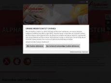 Screenshot der Domain alphatec-systeme.de