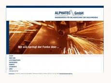 Screenshot der Domain alphatecgmbh.de