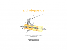 Screenshot der Domain alphatopos.de