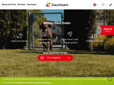 Screenshot der Domain alphazaun.de
