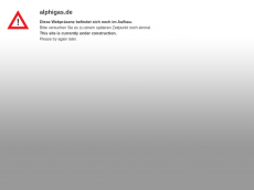 Screenshot der Domain alphigas.de