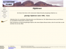 Screenshot der Domain alphorn-bausatz.de