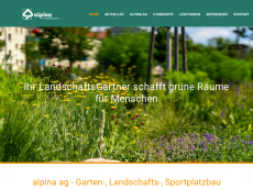 Screenshot der Domain alpina-ag.de