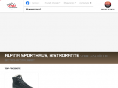 Screenshot der Domain alpina-sporthaus.de