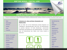 Screenshot der Domain alpina-tour.de