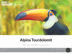 Screenshot der Domain alpina-tourdolomit.com