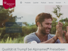 Screenshot der Domain alpinamed-shop.de