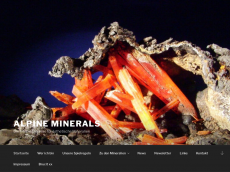 Screenshot der Domain alpine-minerals.de