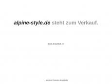 Screenshot der Domain alpine-style.de