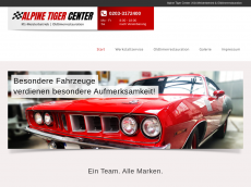 Screenshot der Domain alpine-tiger-center.de