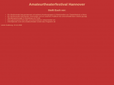 Screenshot der Domain amateurtheaterfestival-hannover.de