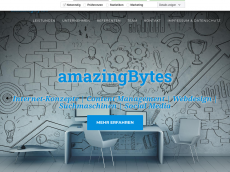 Screenshot der Domain amazing-bytes.de