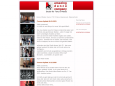 Screenshot der Domain amazing-dance-company.de
