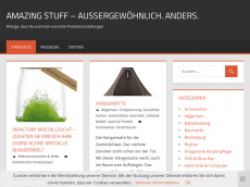 Screenshot der Domain amazing-stuff.de