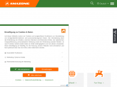Screenshot der Domain amazone-design.de
