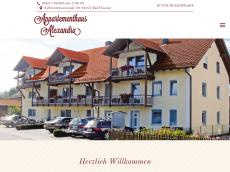 Screenshot der Domain appart-alexandra.de