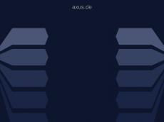 Screenshot der Domain axus.de