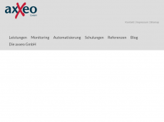 Screenshot von axxeo.de